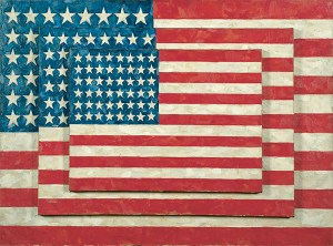Jasper Johns Three Flags Art Image