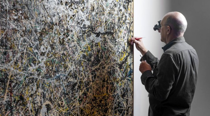 A Jackson Pollock gets public view restoration