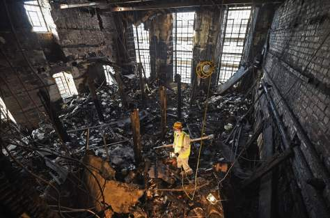 The Mackintosh library after the fire