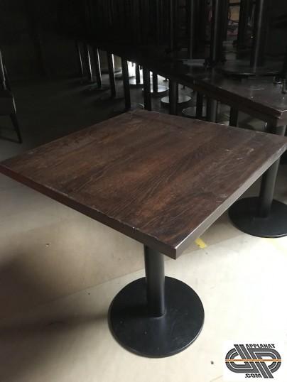 lot 79 tables restaurant plateau bois