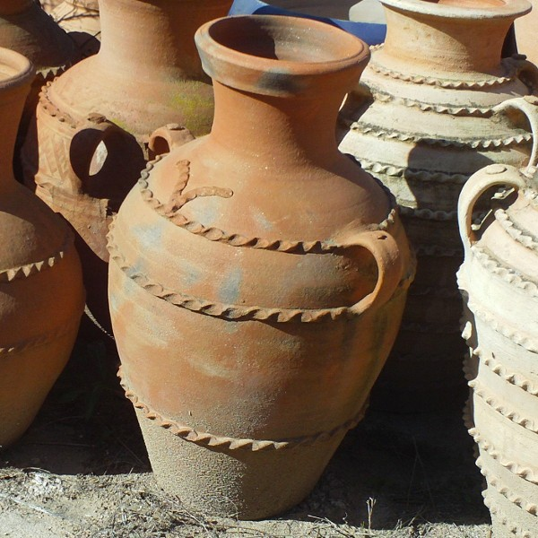 Two Handled Pot Terracotta For Garden Decoration