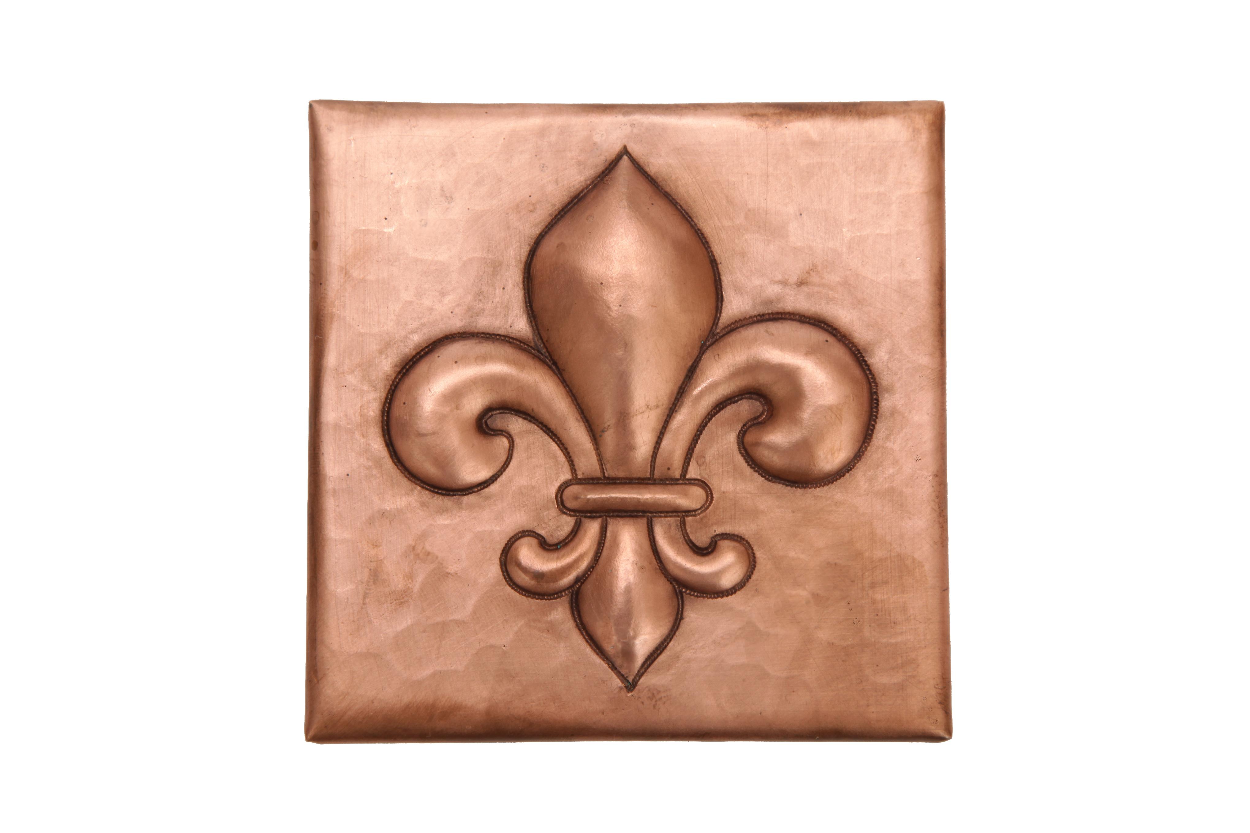copper tile by soluna fleur de lis