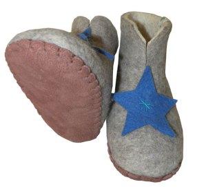 chaussons etoile en laine pour enfants