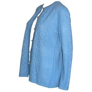 gilet femme bleu laine