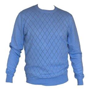pull homme bleu en laine