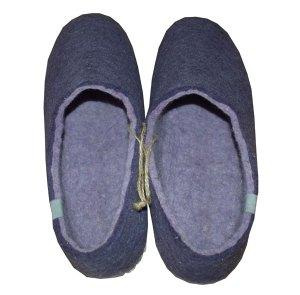 chaussons en laine violet