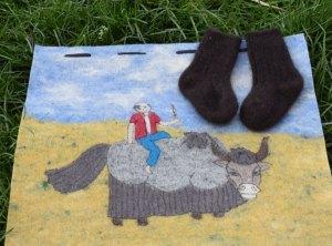 chaussette bébé laine de yack