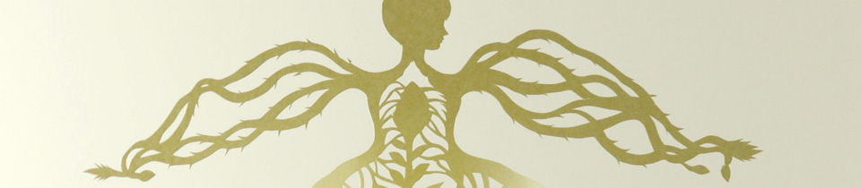 Growing Woman. Paper cut.