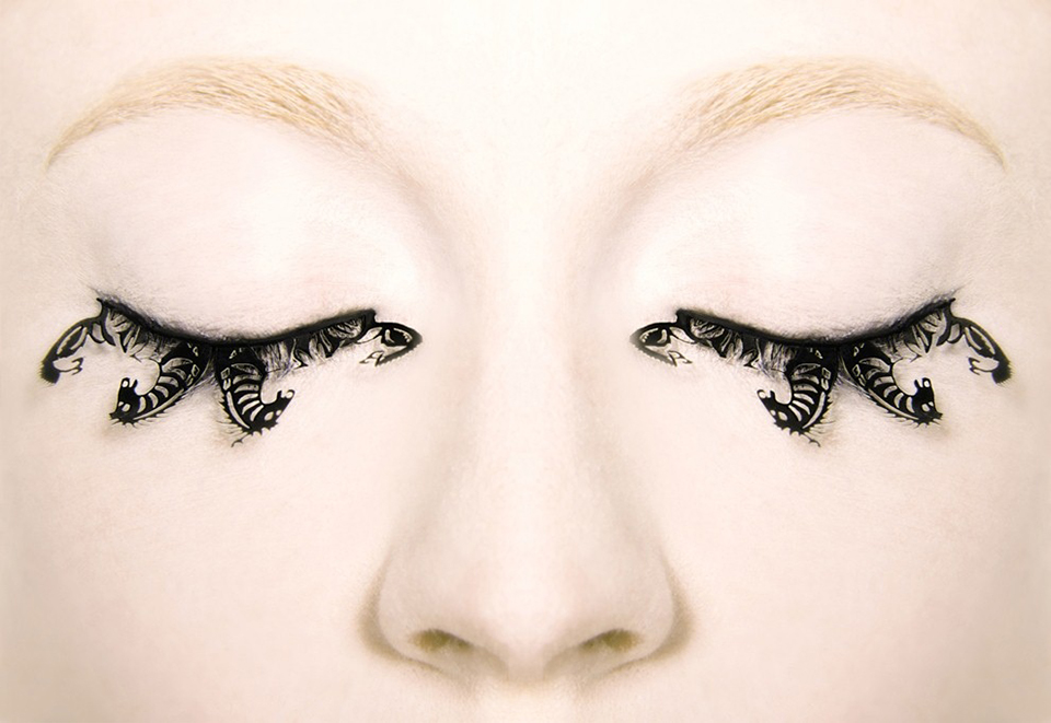Photo Must Be Credited ©Alpha Press 065630 22/08/12 PAPERSELF Shake up the Fashion and Beauty Industry with lashes that WOW! Introducing an exciting collection of exquisite and intricate paper false eyelashes that have made a dramatic impact on lash aficionados! Inspired by the art of Chinese paper-cutting, the PAPERSELF team have challenged the way paper is used by blending traditional culture with contemporary design, creating a brand new concept thatÕs set to change the way we view lashes! PAPERSELF Eyelashes are undeniably an enchanting spin on the false lash tradition. Creating such a visual impact these eye accessories can be seen as delicate and decorative jewellery for the eyes. The fashion forward eyelash concept is designed, developed and produced by The PAPERSELF team. Distinctive to the false lashes found in the market, PAPERSELF have incorporated an exclusive concept with intricate cut patterns uniquely made into the paper eyelashes range. PAPERSELF false eyelashes are available in two sizes. Regular Lashes: The regular lashes can be worn in various ways to create different looks. You can either wear them in full to create a dramatic evening look or trim the full lash into smaller individual pieces to accessorize your eye and wear throughout the day. You can literally customise your lashes to create your own signature look. Individual - Small Lashes: Wear to accentuate the corners of your eyes either at the top or at the bottom.  Smaller lashes can be worn to create a subtle daytime look. PAPERSELF is a London brand under Oaddx Ltd, which is a platform for looking into the innovative exploration of paper for contemporary product design. The world has started to communicate by use of paper since the ancient Egyptians. It has bought continents closer together, educated millions and for centuries has provided a canvas for creation, experimentation and realization. Paper is everywhere and now it is evolving into a new dimension with the launch of the London brand PAPERSELF in 2009. Chunwei Liao, the founder of new cardboard and paper design company, PAPERSELF, has united artists, designers and manufacturers from the East to the West to explore the beauty of paper in a creative, practical and eco-friendly way. Challenging the conventions of product design, PAPERSELF has successfully introduced and launched their paper collections: paper eyelashes (2010), transformer table, lighting, and wallpaper (2009). In 2010, Pulse presented PAPERSELF with the Best Product Award. With this success and innovative attitude, PAPERSELF will continue to explore and develop any possibilities of paper usage across all the boundaries for eco-conscious living. PAPERSELF is quickly gaining recognition for its inventive adaptations, having exhibited at numerous trade fairs and design forums across the globe, as well as being featured in some of the top international publications and online media. Continuing to expand and evolve, PAPERSELF looks to the future, seeking out new talent, transcending traditions and promoting the perception of paper through new eyes. This is a beginning of a paper revolution.