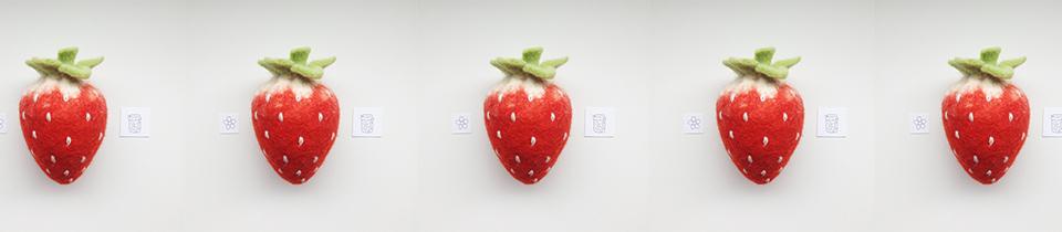 Wool Felt Fruits by Stanisla Rachkovskaya.