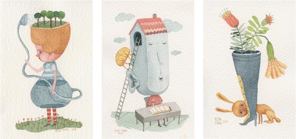 Watercolors by Elsa Mora