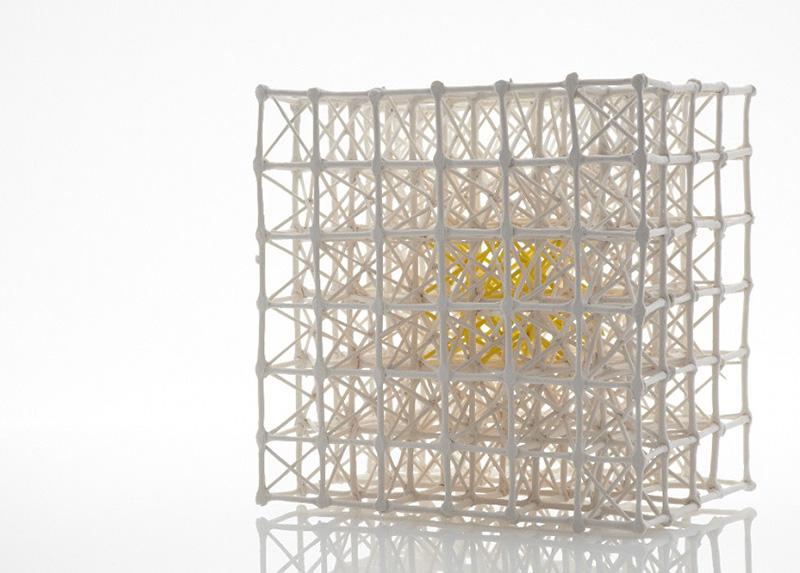 031. Radiolaria Grid Yellow Centre.O'Donovan