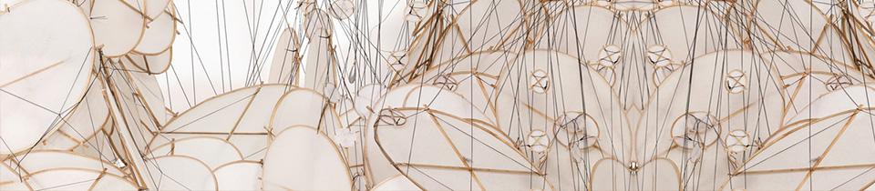 Silent Rhythm. An Installation by Jacob Hashimoto.
