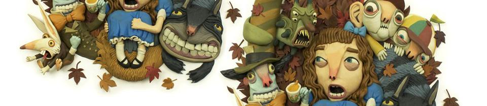 Alice in Wonderland in Plasticine. By Gianluca Maruotti.