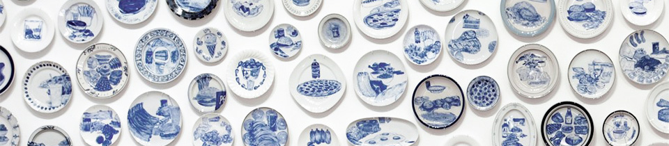 The Last Supper. An Unusual Series of Ceramic Plates by Julie Green.