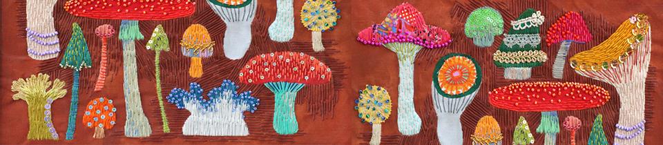 Embroidery Art by Kimika Hara.