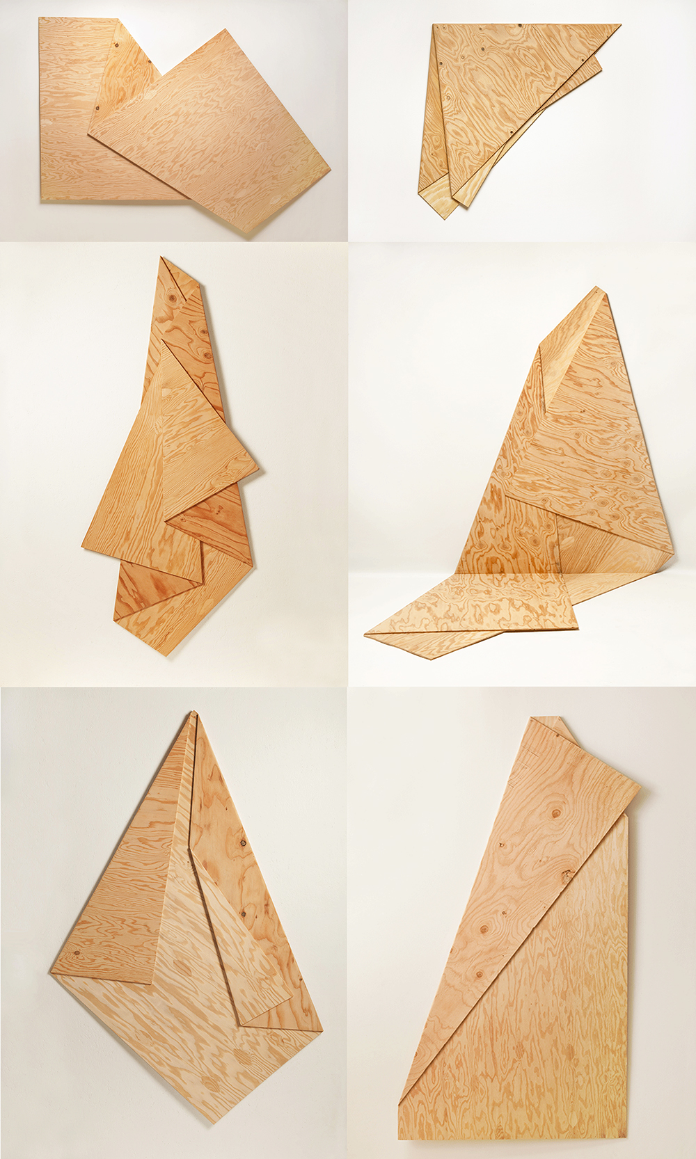 Folded playwood
