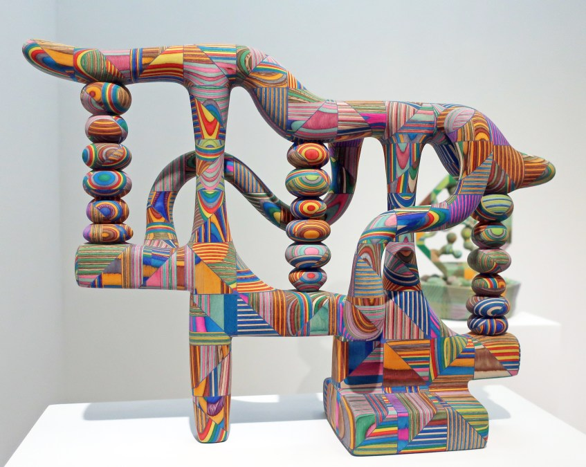 Dyed Plywood Carvings by Bayne Peterson
