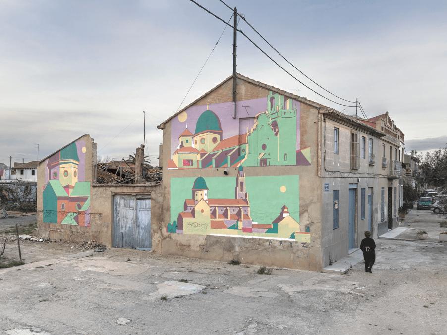 Murals by Aryz