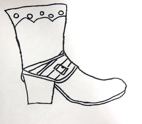 Shoe drawings