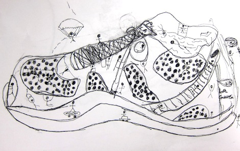 Contour Line Shoe drawings by 3rd grade