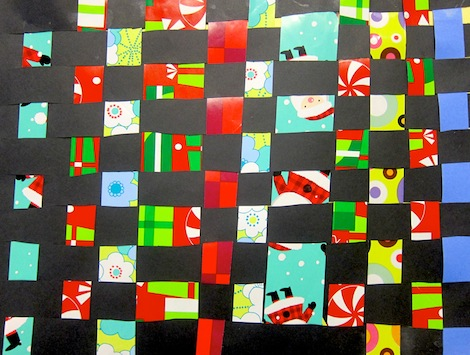 Kindergarten paper weaving