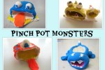 Clay Pinch Pot Monsters with 2nd Graders