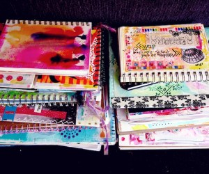 Stack of Art Journals
