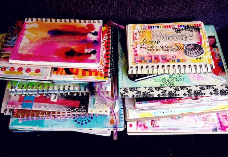 Marcia Beckett stack of journals