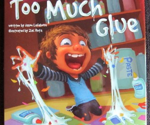 Art Book for Kids Review:  Too Much Glue