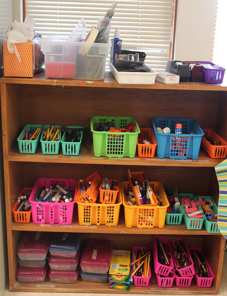 Art Supply Shelf for Student Use