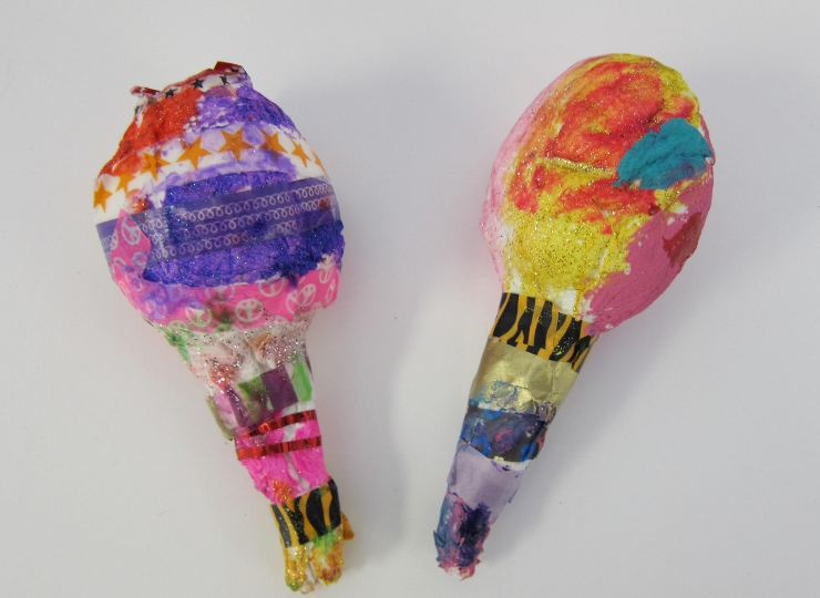 Making Paper Mache Rattles