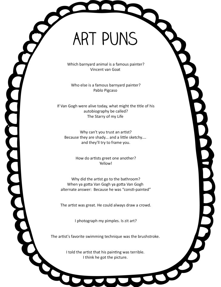 Fun Puns about Art and Artists - Art is Basic | An ...
