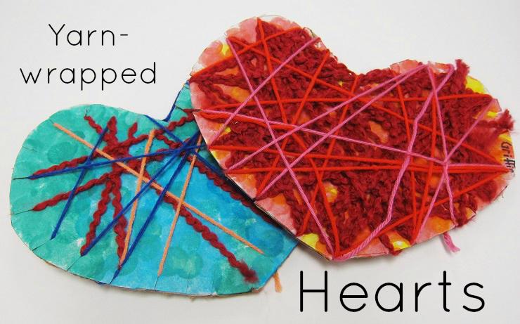 yarn hearts