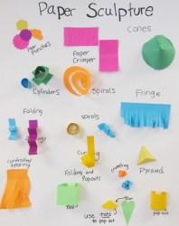 Paper Sculpture Techniques Poster