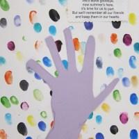 End of Year Kindergarten Fingerprint Art