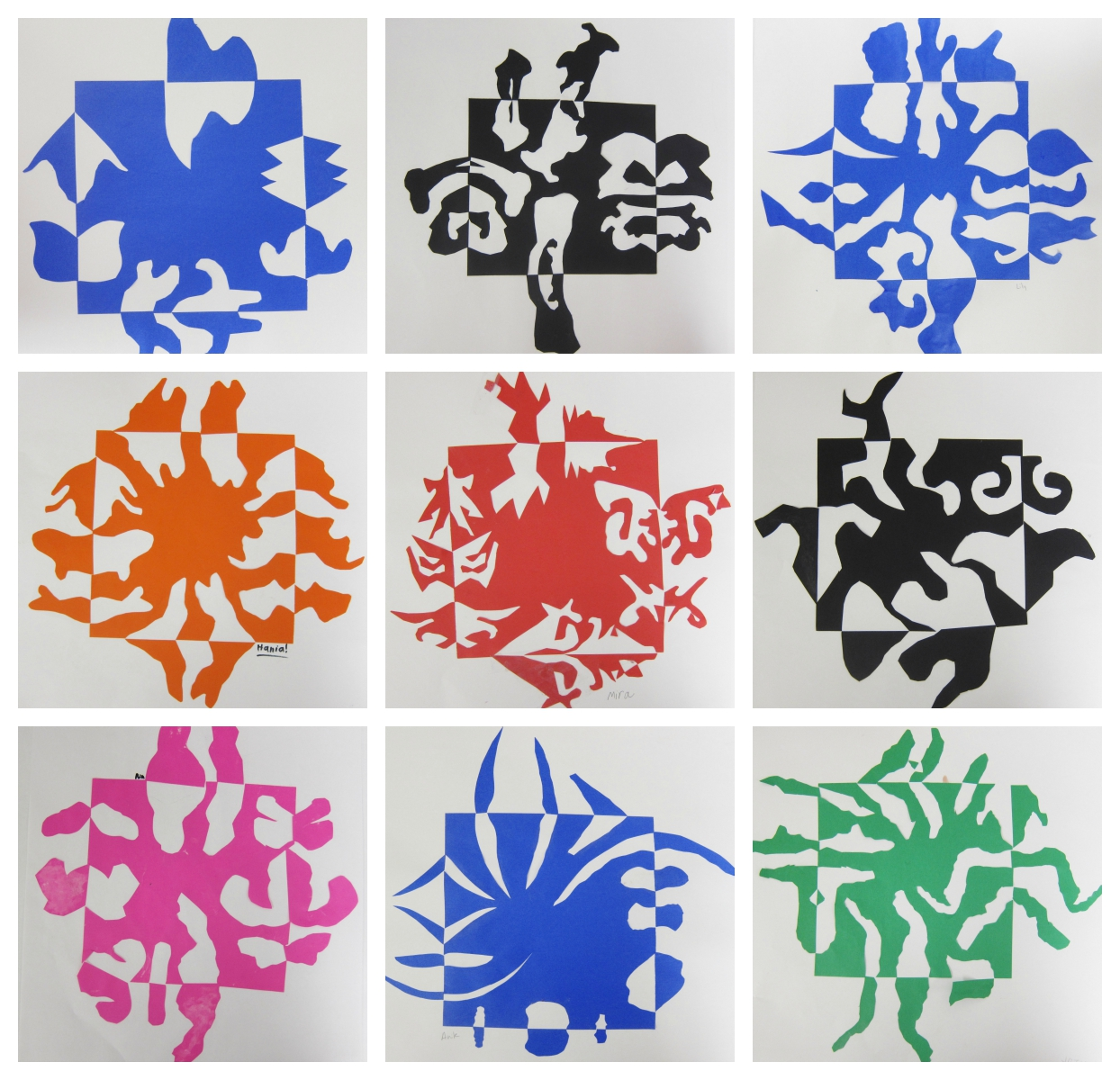 Notan Cut Paper Designs Third Grade