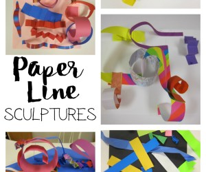 Paper Line Sculptures with Kindergarten