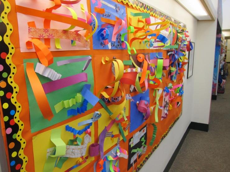 Paper Line Sculptures with Kindergarten (1)