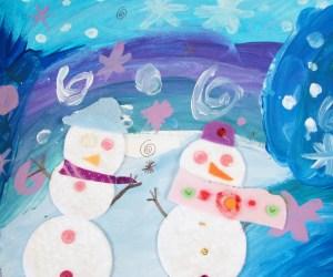 Snowmen Art Project for Kids