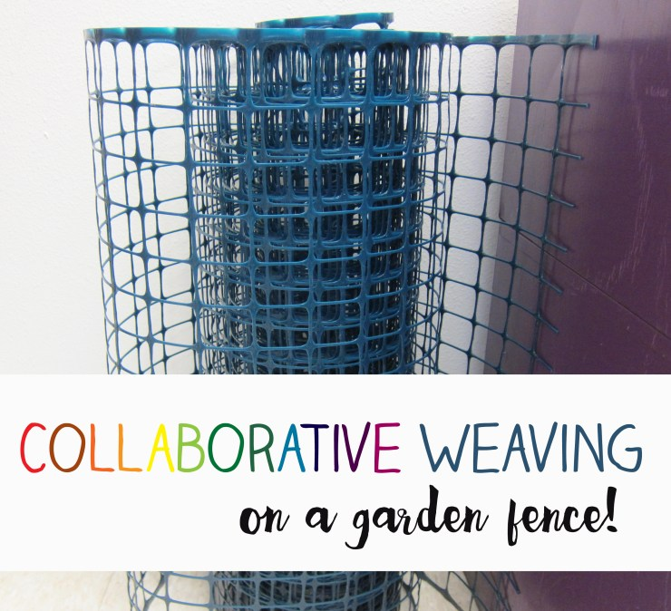 weaving on a garden fence