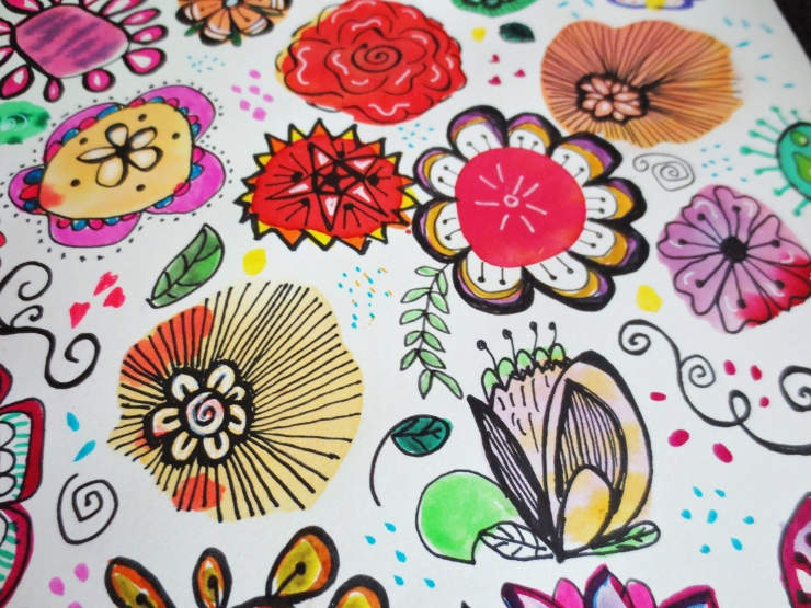 Flower Doodles Close up