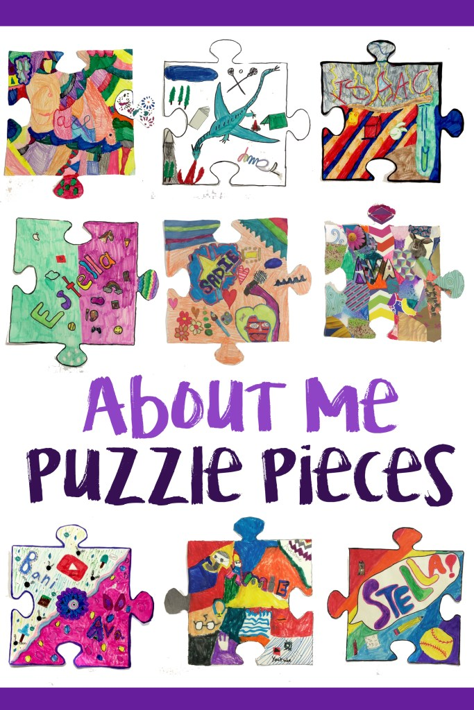 Collaborative Classroom Activities ~ All about me collaborative puzzle pieces art is basic