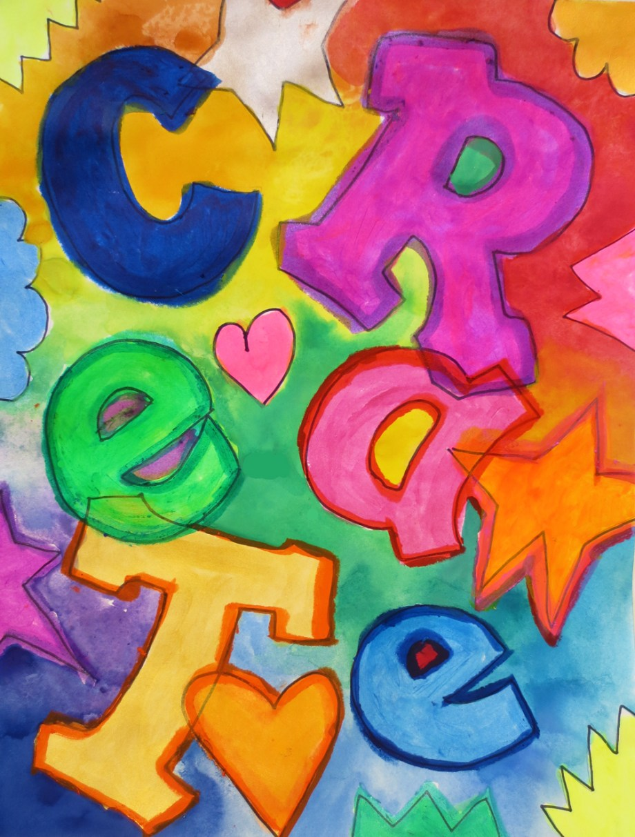 Painting of Letters- using Kwik Stix