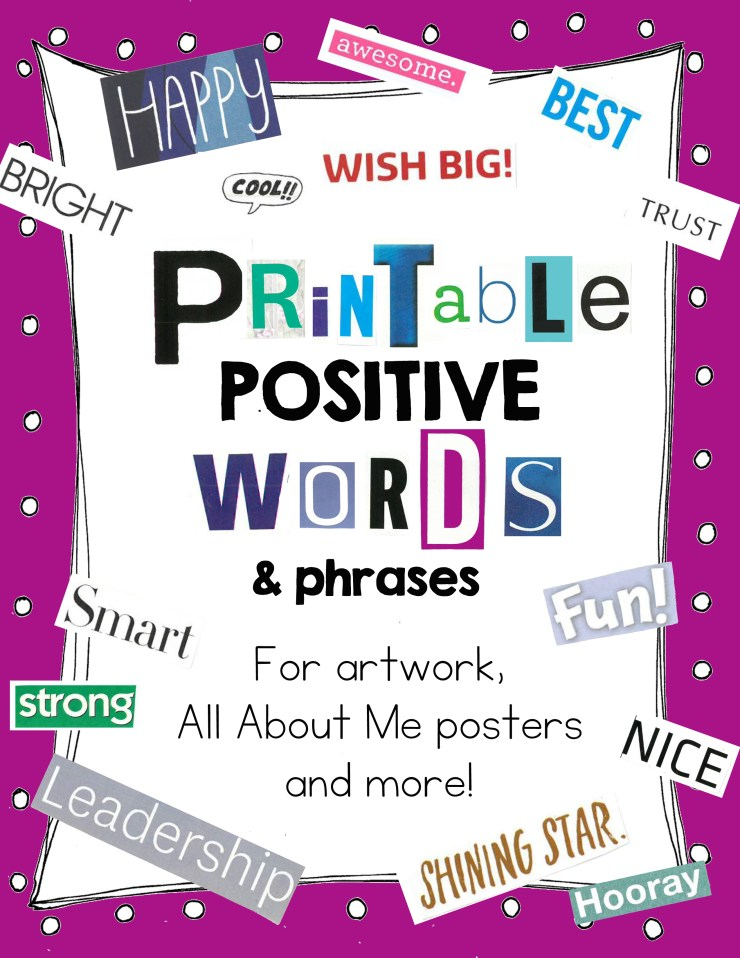 Printable Positive Phrases