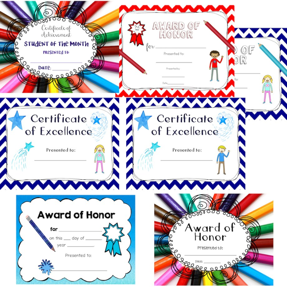 Awards Certificate Bundle