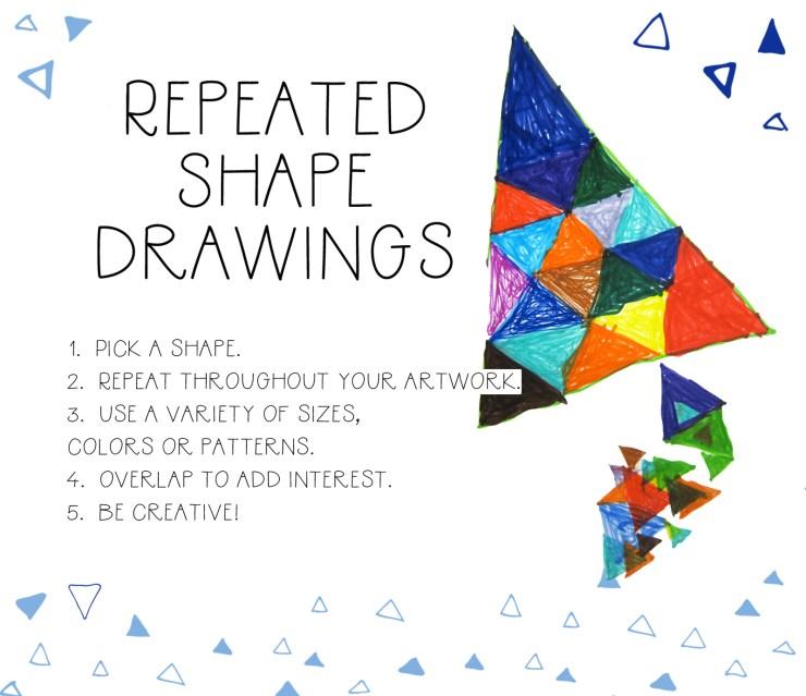 Repeated Shape Drawings
