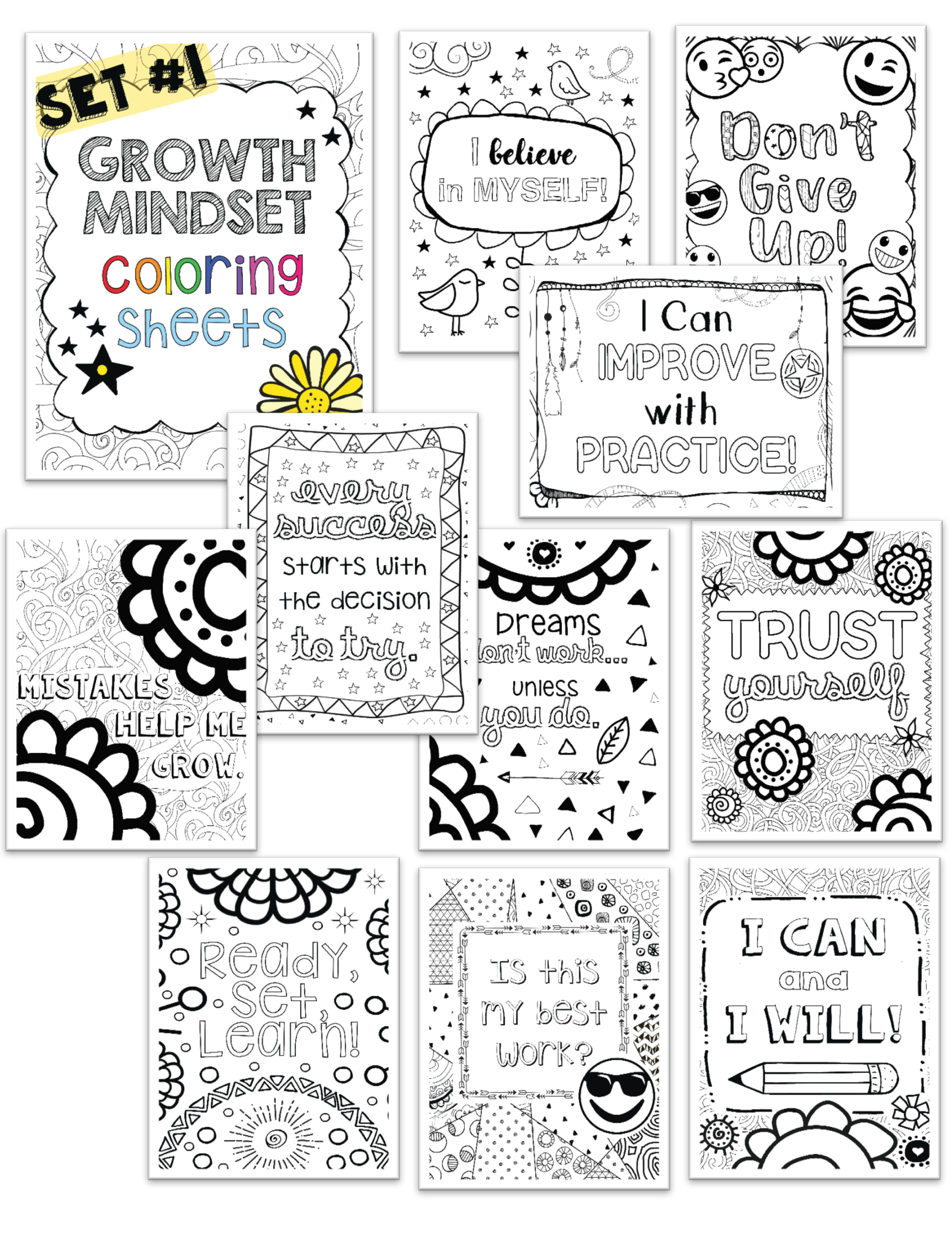 Free Coloring Page: Growth Mindset