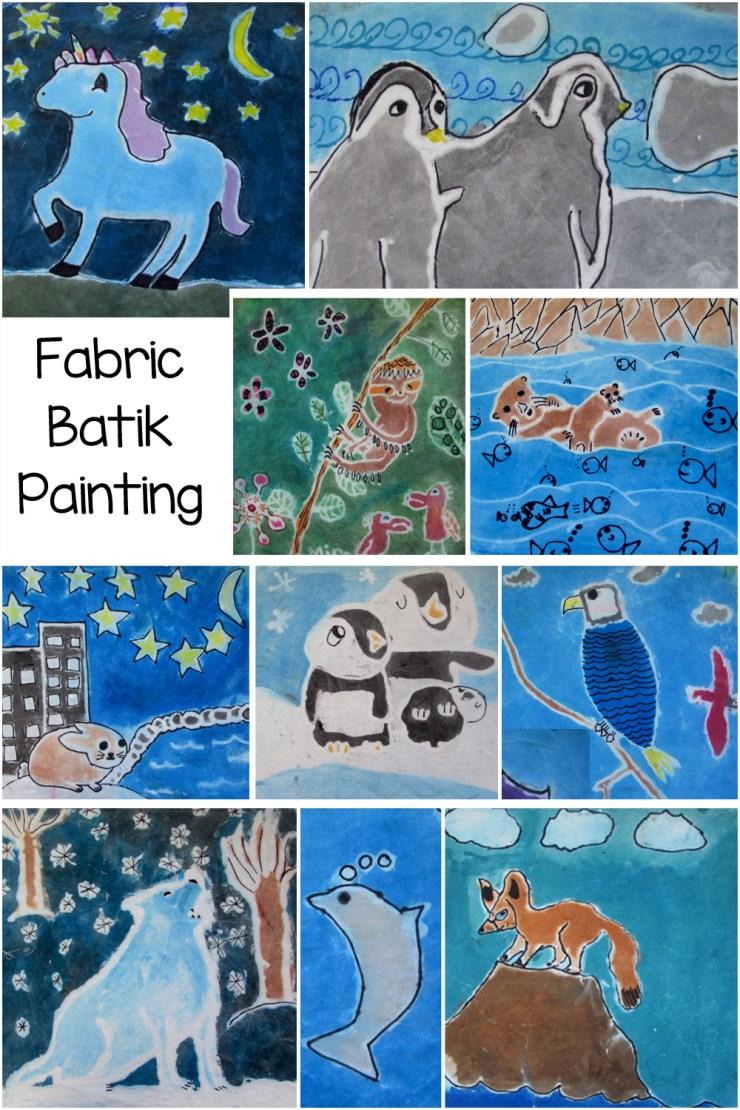 Fabric Batik Painting