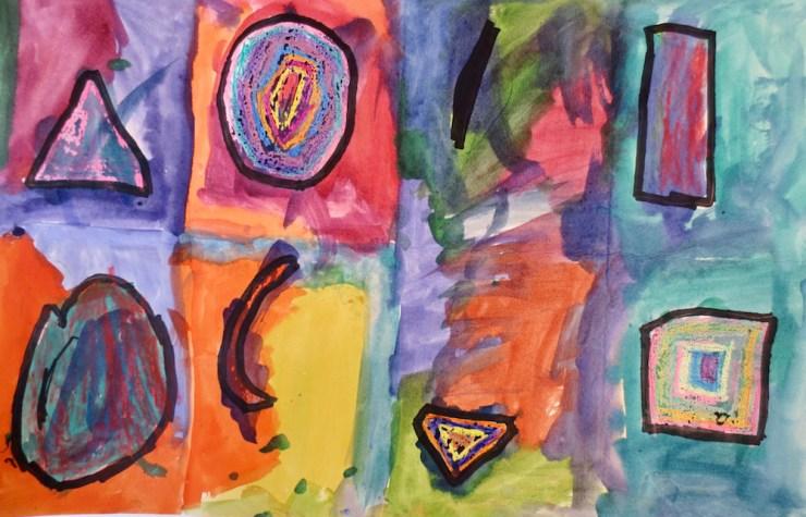 Kindergarten Watercolor Shapes